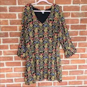 Old Navy cottagecore floral bell sleeve dress